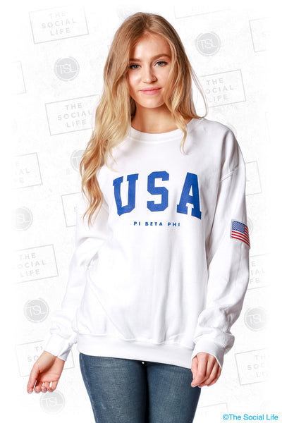 Pi Beta Phi Flag Crewneck