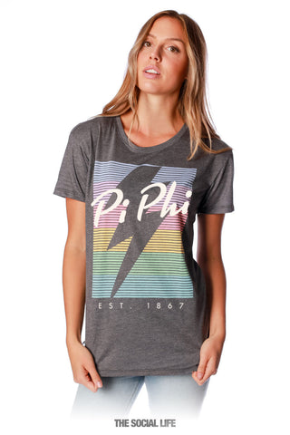 Pi Beta Phi RainBolt Scoop Tee