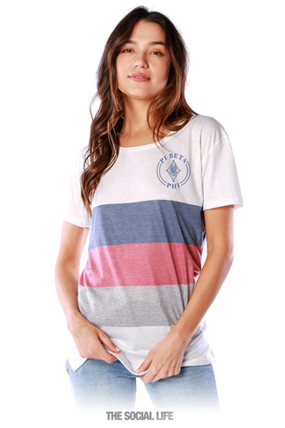 Pi Beta Phi Rugby Scoop Tee