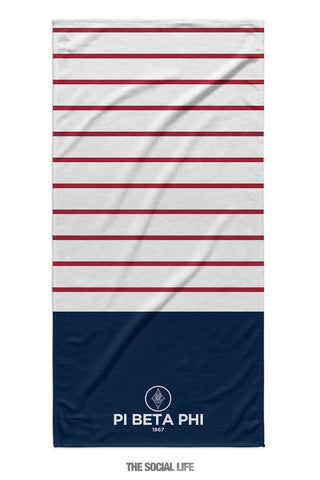 Pi Beta Phi Sailor Striped Towel