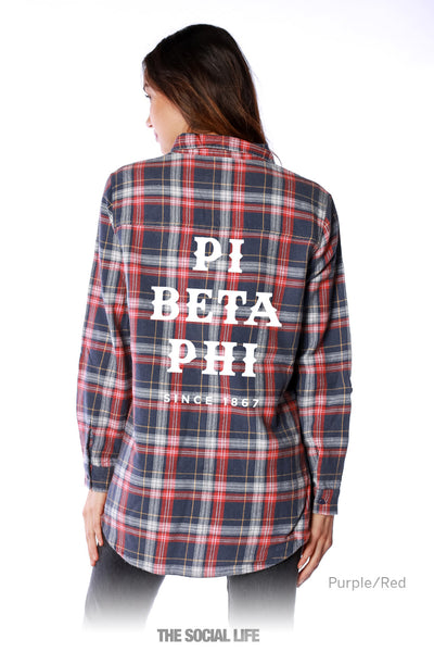 Pi Beta Phi Vintage Wash Flannel