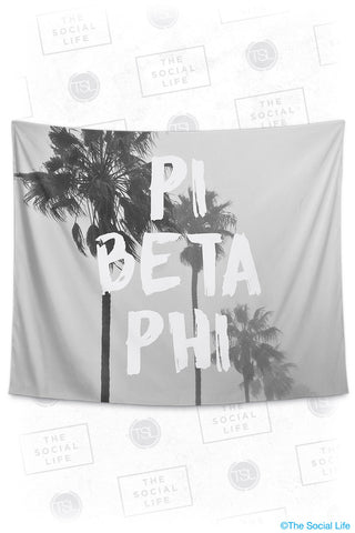 Pi Beta Phi Palm Mist Tapestry