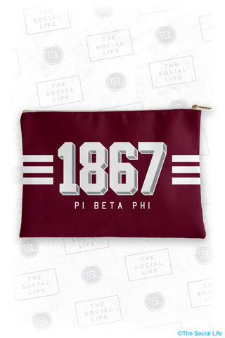 Pi Beta Phi Varsity Cosmetic Bag