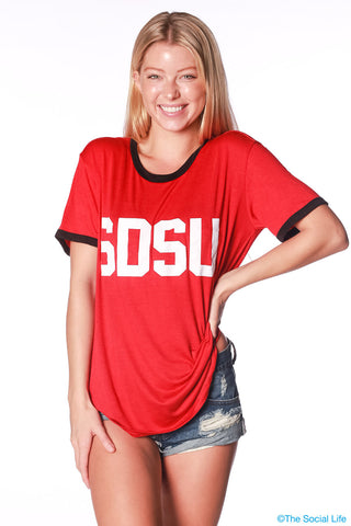 SDSU Relaxed Ringer Tee