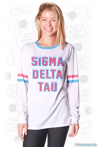 Sigma Delta Tau Frosted Long Sleeve