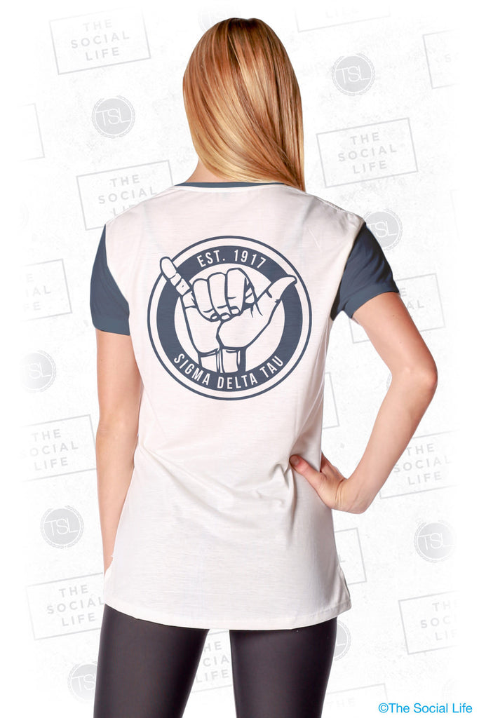 Sigma Delta Tau Hang Loose Scoop Tee
