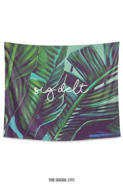 Sigma Delta Tau Painted Palms Tapestry
