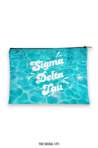 Sigma Delta Tau Pool Water Cosmetic Bag