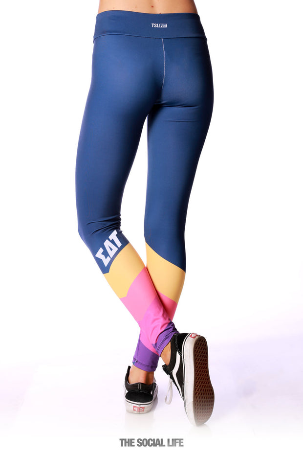 Sigma Delta Tau Retro Leggings