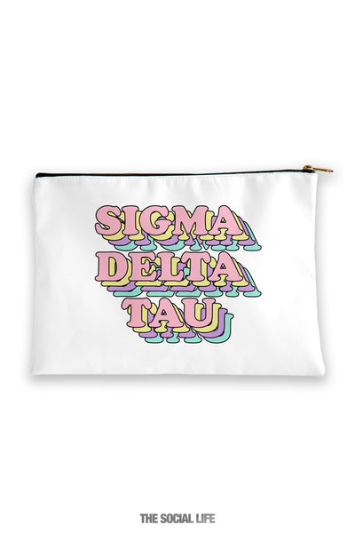 Sigma Delta Tau Retro Cosmetic Bag