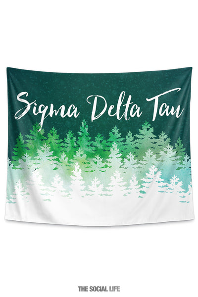 Sigma Delta Tau Cascading Pines Tapestry