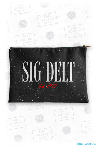 Sigma Delta Tau Speckle Cosmetic Bag