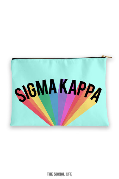 Sigma Kappa Colorblast Cosmetic Bag