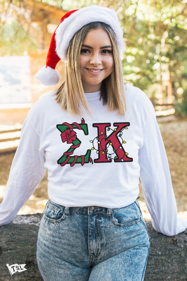 Sigma Kappa Holiday Letter Long Sleeve