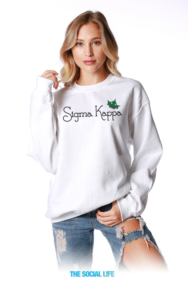 Sigma Kappa Holly Crewneck