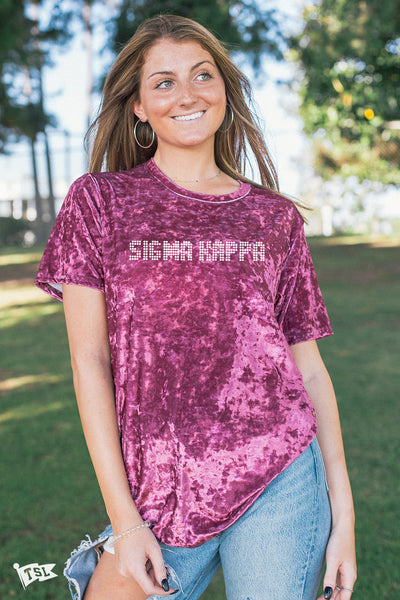 Sigma Kappa Hollywood Velvet Tee