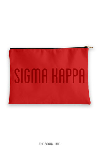 Sigma Kappa Primary Cosmetic Pouch
