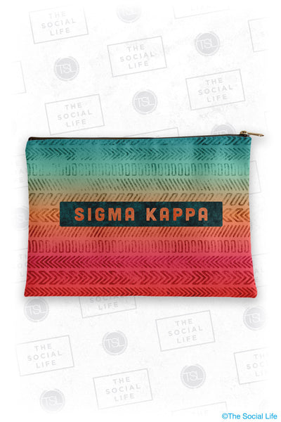 Sigma Kappa Tribal Cosmetic Bag