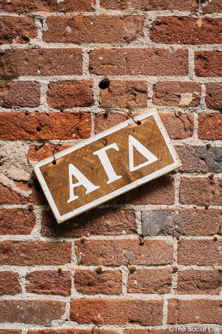 Alpha Gamma Delta Letters Sign
