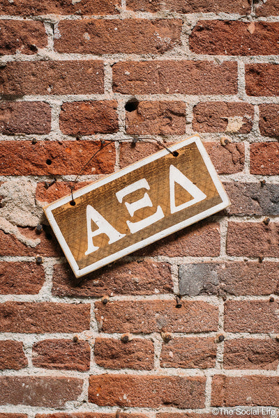 Alpha Xi Delta Letters Sign