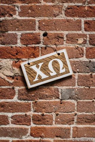 Chi Omega Letters Sign