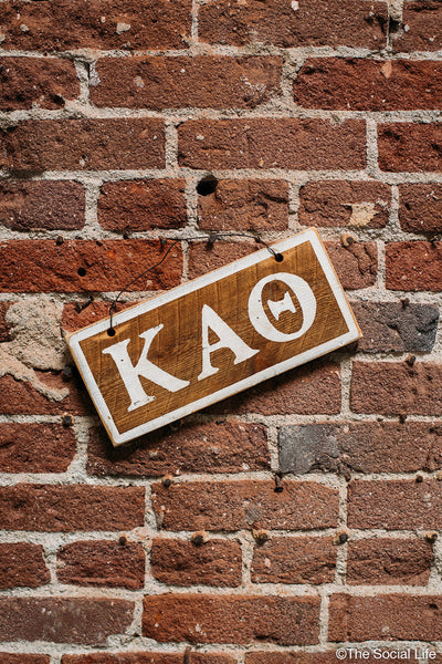 Kappa Alpha Theta Letters Sign