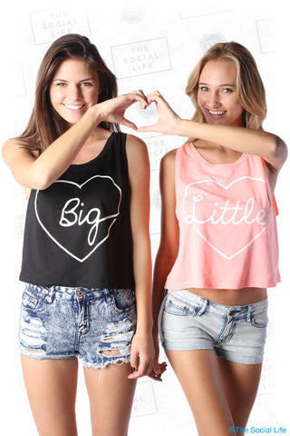 Script Heart Boxy Tank - Little