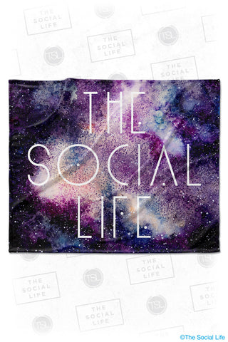 The Social Life Galaxy Velvet Plush Blanket