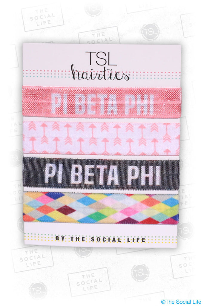 Pi Phi - Combo Hair Tie Pack