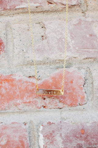 Kappa Alpha Theta Custom Necklace