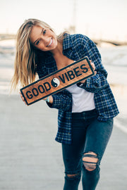 Good Vibes Vintage Sign