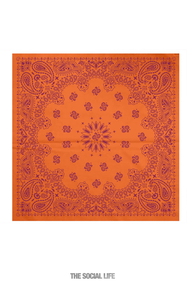 Game Day Bandana - Orange / Maroon