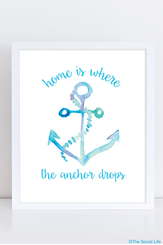 "DG ""Where the Anchor Drops"" Art Print"