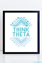 Think Theta Art Print