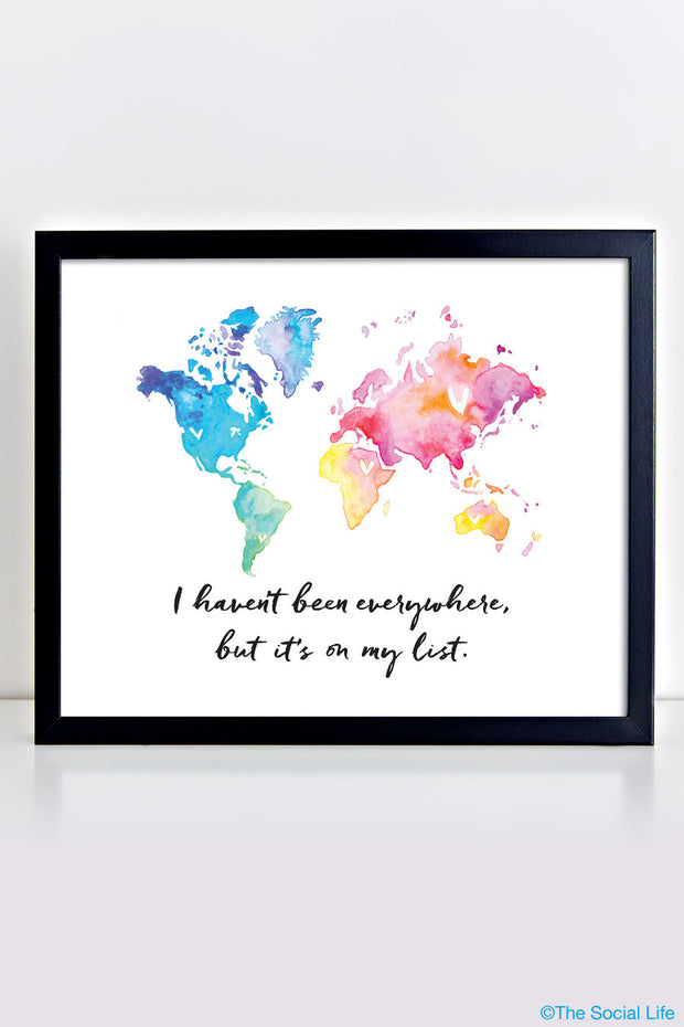 """World Traveler"" Art Print"