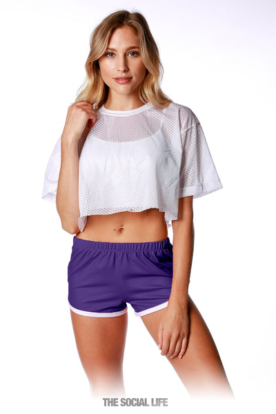 Game Day Retro Shorts - Purple