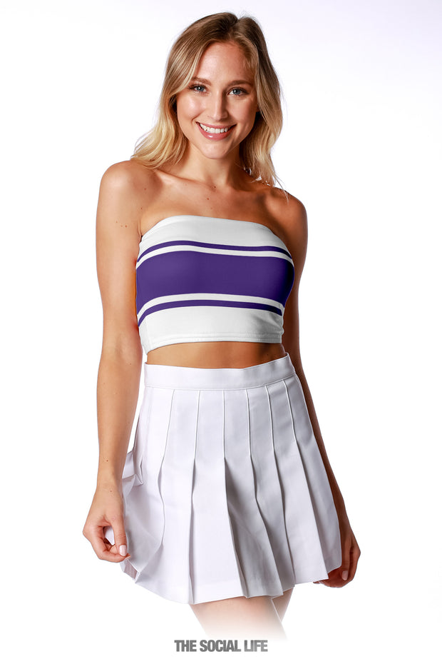 Game Day Tube Top (Reversible) - Purple / White