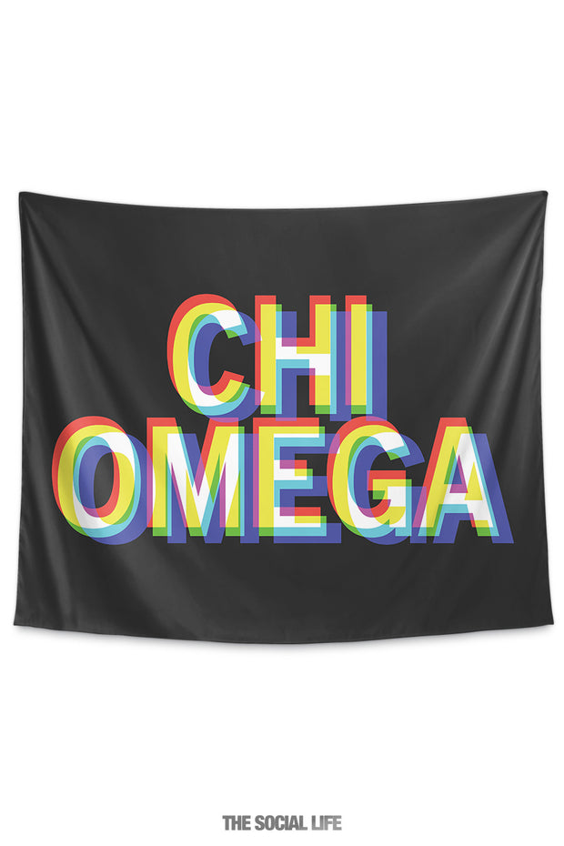 Chi Omega 3D Vision Tapestry