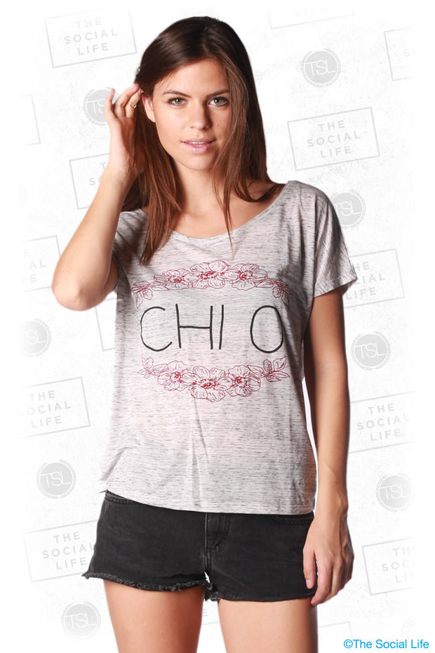 ChiO - Floral Flowy Tee
