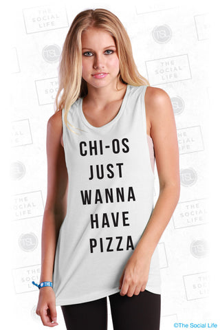 Chi Omega and Pizza Muscle Tank