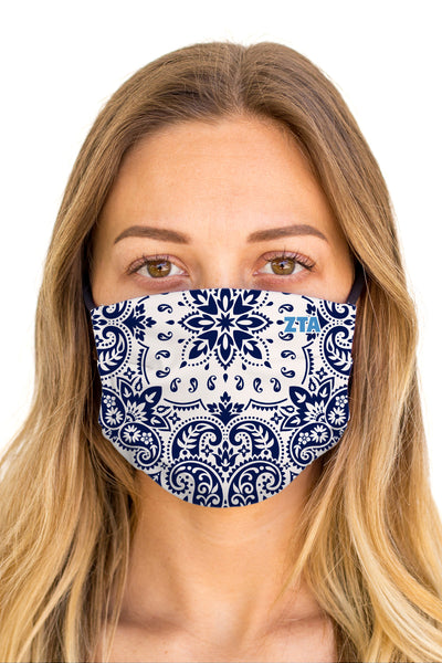 Zeta Tau Alpha Bandana Mask (Anti-Microbial)