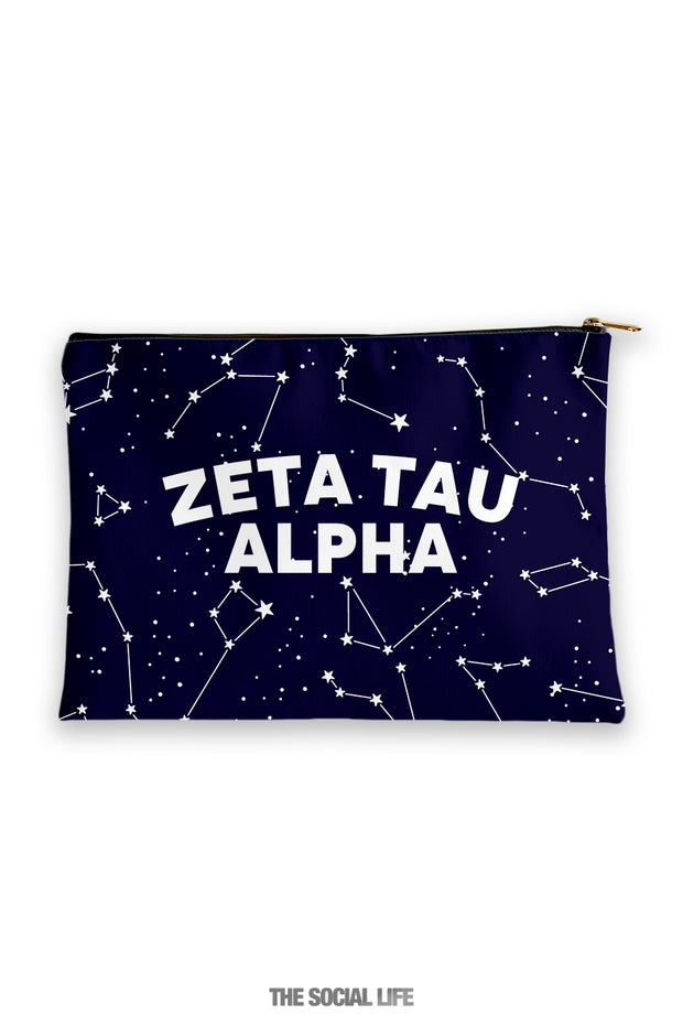 Zeta Tau Alpha Constellation Cosmetic Bag