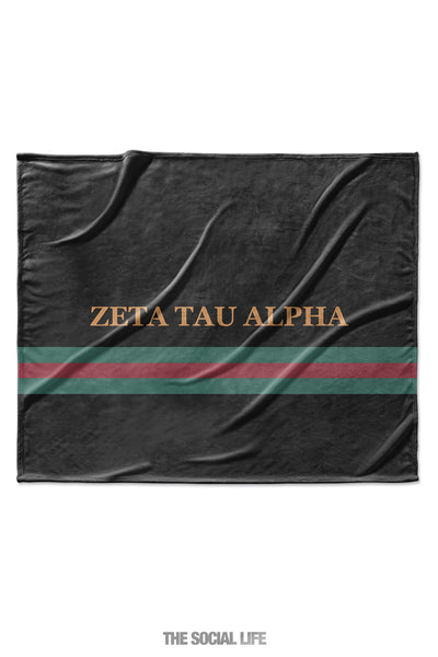 Zeta Tau Alpha Couture Blanket