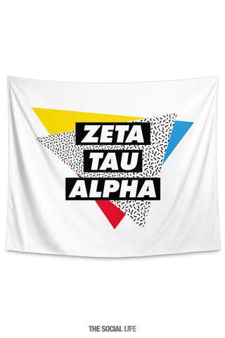 Zeta Tau Alpha Graphy Tapestry