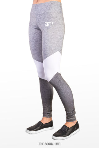 Zeta Tau Alpha Graphite Leggings