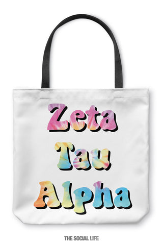 Zeta Tau Alpha Hippie Tote Bag
