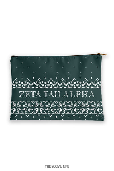 Zeta Tau Alpha Holiday Cosmetic Bag