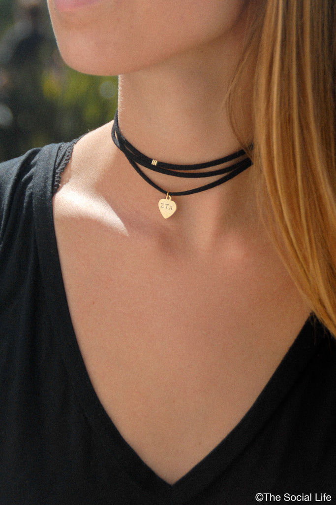 wrap necklace crescent double flowers malibu choker products horn img