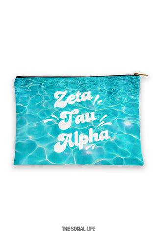 Zeta Tau Alpha Pool Water Cosmetic Bag