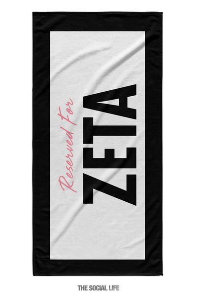 Zeta Tau Alpha Reserved Towel